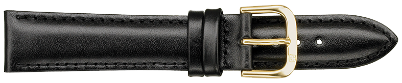STRAPS, LEATHER #331 20mm BLK WB STR 331.1.20R