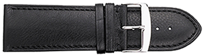 STRAPS, LEATHER #336 28mm BLK WB STR 336.1.28R