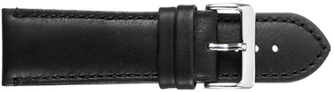 STRAPS, LEATHER #341 22mm BLK
