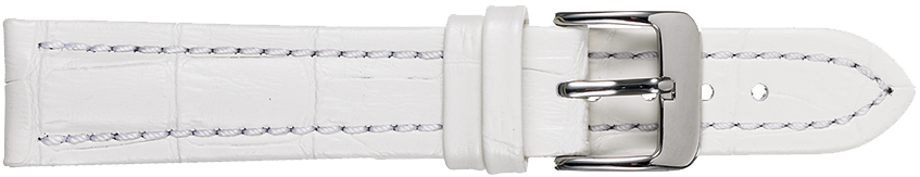 STRAPS, LEATHER #386 22mm WHT WB STR 386.0.22R