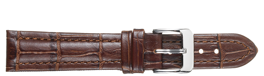 STRAPS, LEATHER #386 18mm BRN WB STR 386.2.18L