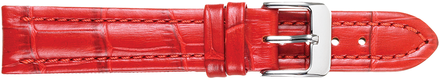 STRAPS, LEATHER #386 22mm RED WB STR 386.4.22R