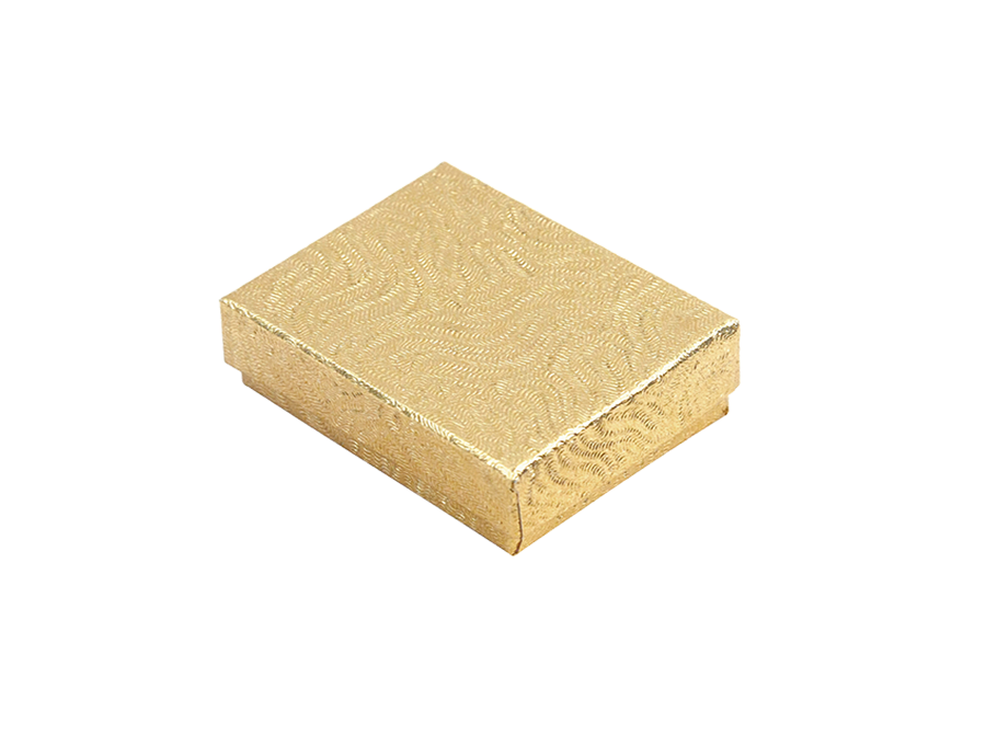 COTTON FILLED BOX         GOLD P1 BOX 0033-G