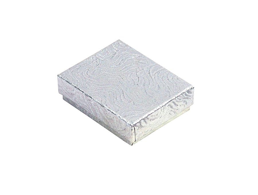 COTTON FILLED BOX       SILVER P1 BOX 0033-S