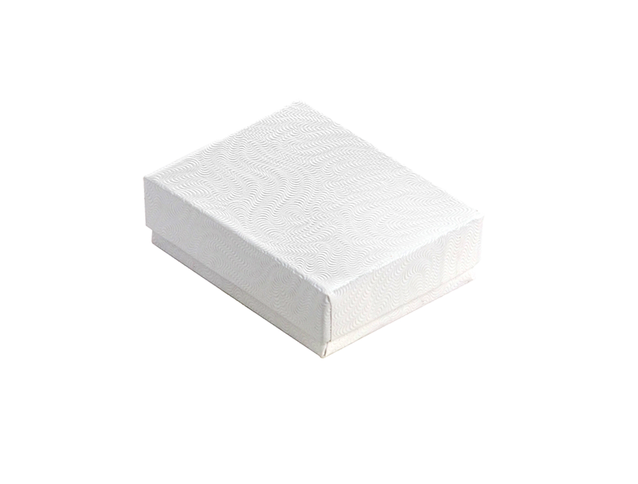 COTTON FILLED BOX        WHITE P1 BOX 0033-W
