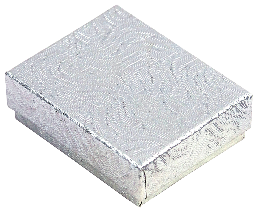 COTTON FILLED BOX       SILVER