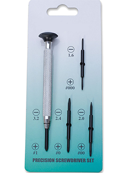 SCREWDRIVER, PRECISION SET w/4