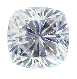 MOISSANITE, CUSHION     6.0mm ST AK-HSNC 6.0