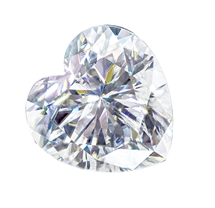MOISSANITE, HEART       5.0mm ST AK-HSNH 5.0