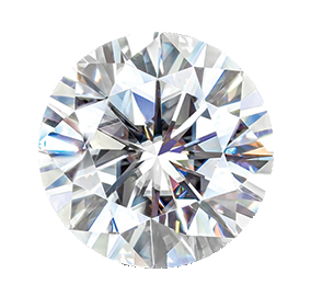 MOISSANITE, ROUND       7.5mm ST AK-HSNR 7.5
