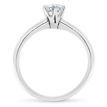 MOISSANITE, 14K RING    5.0mm